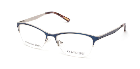 Cover Girl - CG0543 Matte Blue Eyeglasses / Demo Lenses