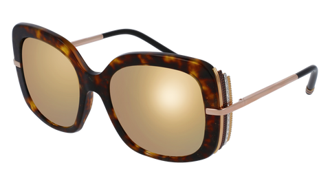 Boucheron - BC0002S Havana Gold Sunglasses / Gold Lenses