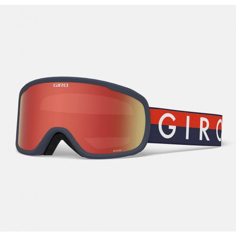 Giro - Roam Midnight Red Throwback Snow Goggles / Amber Scarlet + Yellow Lenses