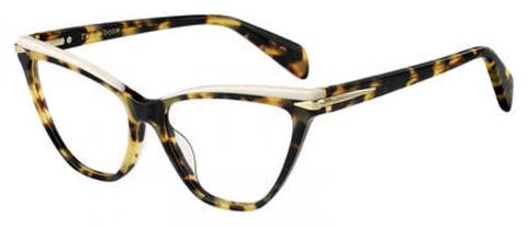 Rag & Bone - Rnb 3020 Dark Havana Eyeglasses / Demo Lenses