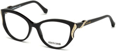 Roberto Cavalli - RC5055 Fosciana Shiny Black Eyeglasses / Demo Lenses