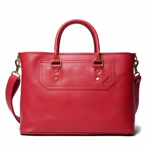 J.W. Hulme - Elliot Watermelon Leather Satchel