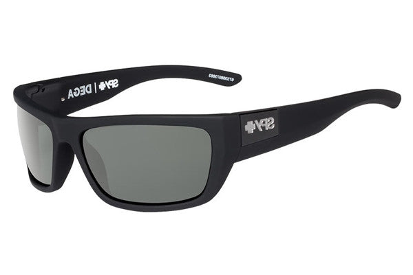 Spy - Dega Soft Matte Black Sunglasses, Happy Grey Green Lenses