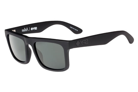 Spy - Atlas Soft Matte Black Sunglasses, Happy Grey Green Lenses