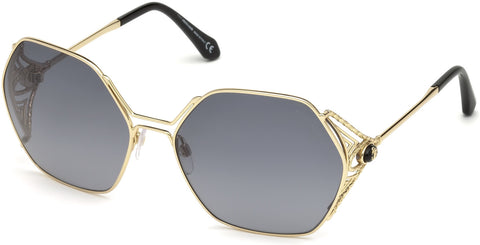 Roberto Cavalli - RC1056 Fosdinovo Gold Sunglasses / Gradient Smoke Lenses