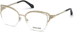 Roberto Cavalli - RC5054 Forte Gold Eyeglasses / Demo Lenses