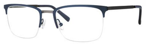 Adensco - Ad 118 51mm Matte Blue Ruthenium Eyeglasses / Demo Lenses