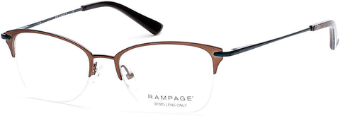 Rampage - RA0202 Matte Dark Brown Eyeglasses / Demo Lenses