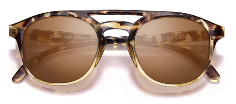 Sunski - Olemas Tortoise Sunglasses / Amber Polarized Lenses