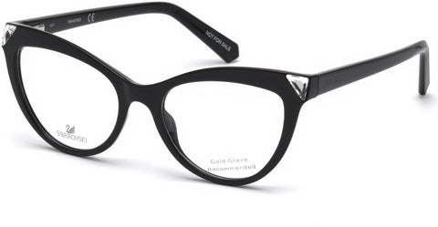 Swarovski - SK5268 Shiny Black Eyeglasses / Demo Lenses