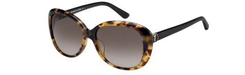 Juicy Couture - Ju 598 S Havana Black Sunglasses / Brown Gradient Lenses
