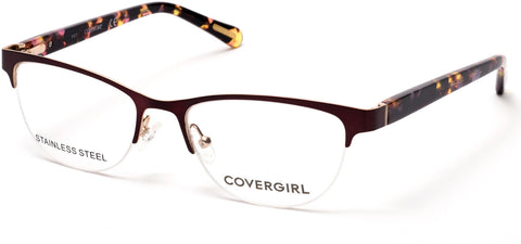 Cover Girl - CG0544 Matte Bordeaux Eyeglasses / Demo Lenses
