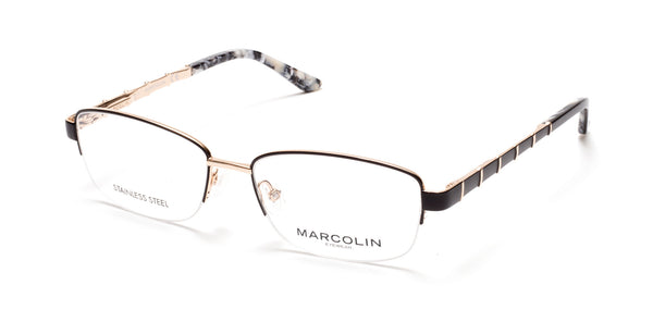 Marcolin - MA5015 54mm Black Eyeglasses / Demo Lenses
