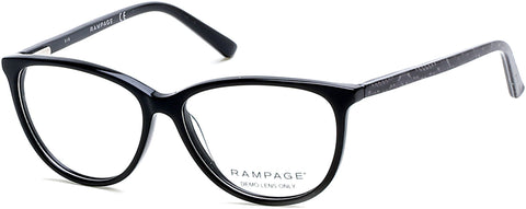 Rampage - RA0201 Black Eyeglasses / Demo Lenses