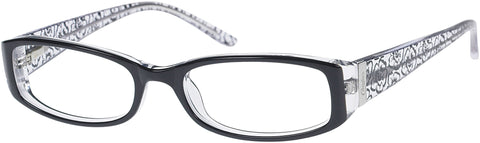 Candie's - CAA260 Black Crystal Eyeglasses / Demo Lenses