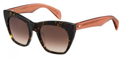 Rag & Bone - Rnb 1009 S Havana Orange Sunglasses / Brown Gradient Lenses