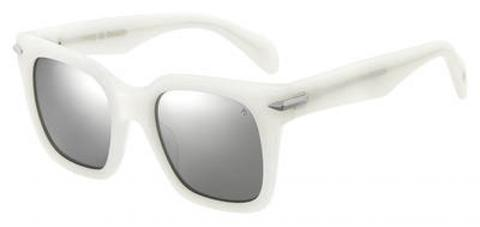 Rag & Bone - Rnb 1014 S White Sunglasses / Silver Mirror Lenses