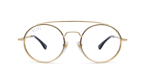 9FIVE - 50-50 24K 50mm Gold Eyeglasses / Demo Lenses