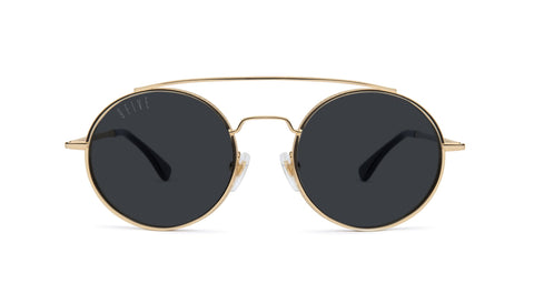 9FIVE - 50-50 24K 50mm Gold Sunglasses / Black Lenses