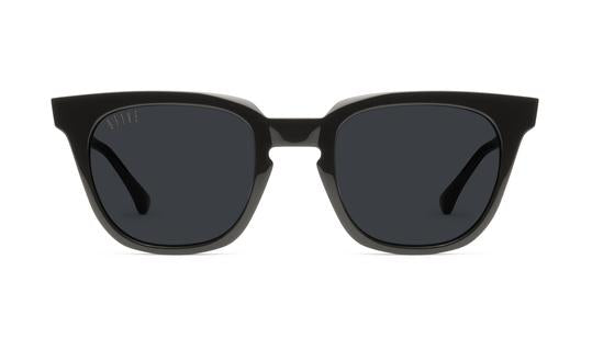 9FIVE - Dean 49mm Black Sunglasses / Black Blue Polarized Lenses