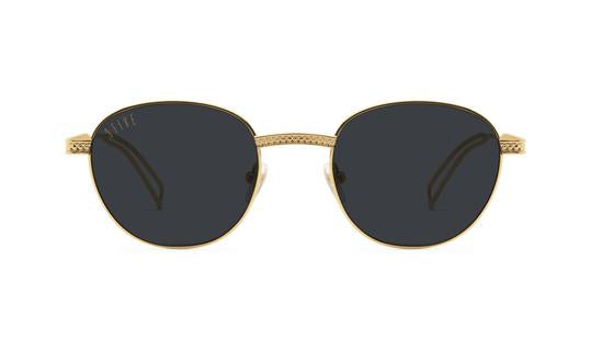 9FIVE - Dime 50mm 24K Gold Sunglasses / Black Lenses