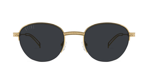 9FIVE - Dime 24k 50mm Gold Sunglasses / Black Lenses