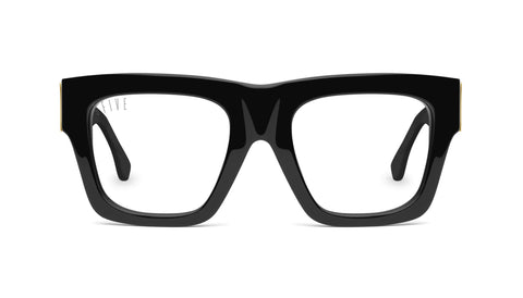 9FIVE - Lucy Black & 24k 50mm Black Eyeglasses / Demo Lenses