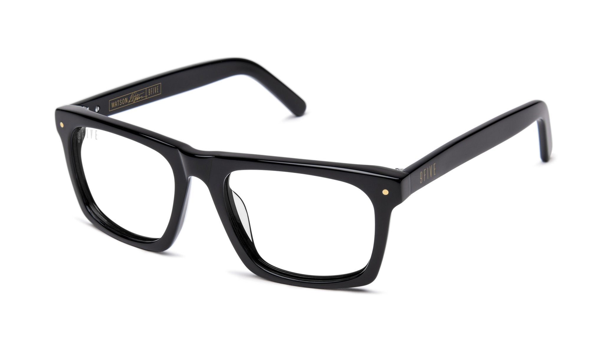 9FIVE - Watson 53mm Black Eyeglasses / Demo Lenses