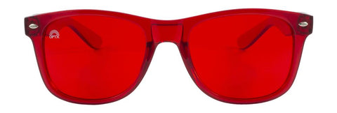 RainbowOPTX - Translucent Transparent Sunglasses / Red Lenses