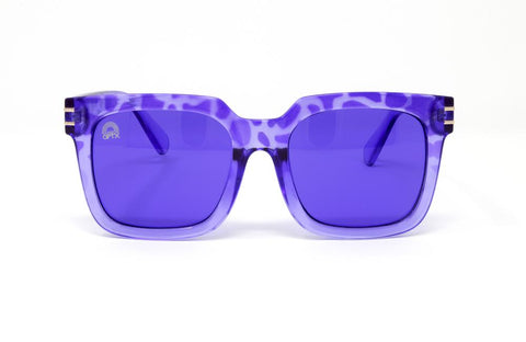 RainbowOPTX - Unit Leopard Sunglasses / Indigo Lenses
