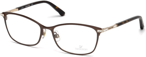Swarovski - SK5187 Goldie 51mm Matte Dark Brown Eyeglasses / Demo Lenses