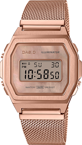 Casio - A1000MPG-9 Vintage Collection Rose Gold Watch