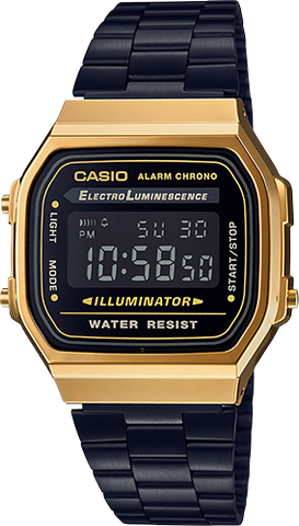 Casio - A168WEGB-1B Vintage Collection Black Gold Watch