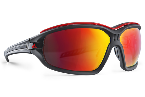 Adidas - Evil Eye Evo Pro Black Matte / Black Sunglasses,  Red Mirror Lenses