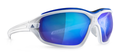 Adidas - Evil Eye Evo Pro White Shiny / White Sunglasses,  Blue Mirror Lenses
