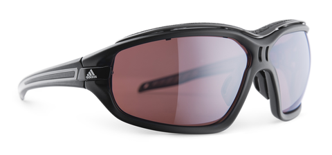 Adidas - Evil Eye Evo Pro Black Matte / Gray Sunglasses,  LST Polarized Silver H Lenses