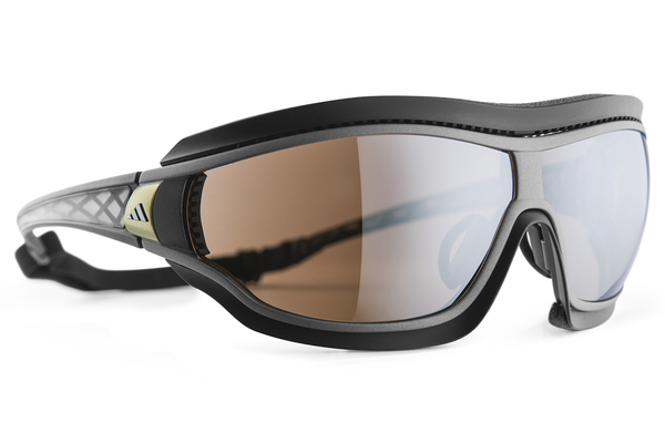 Adidas - Tycane Pro Outdoor Grey Matte / Grey Sunglasses, LST Bluelight Silver AF H Lenses