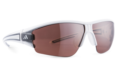 Adidas - Evil Eye Halfrim Shiny White / Anthracite Sunglasses,  LST Active Silver Lenses