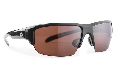 Adidas - Kumacross Halfrim Black Sunglasses,  LST Polarized Silver Lenses