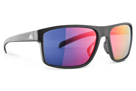 Adidas - Whipstart Black Matte / Black Sunglasses, Red Mirror Lenses