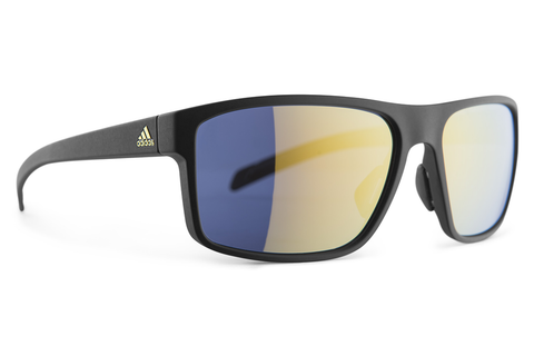 Adidas - Whipstart Black Matte Gold Sunglasses, Gold Mirror Lenses