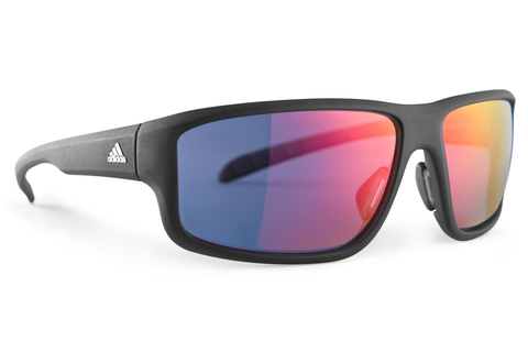 Adidas - Kumacross 2.0 Umber Matte Transparent Sunglasses, Red Mirror Lenses