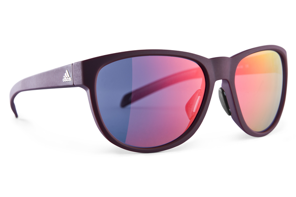 Adidas - Wildcharge Maroon Matte  Sunglasses, Red Mirror Lenses
