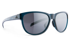 Adidas - Wildcharge Blue Shiny Silver  Sunglasses, Chrome Mirror Lenses
