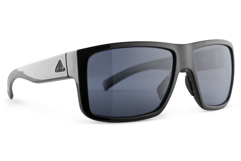 Adidas - Matic Black Shiny Sunglasses, Gray Polarized Lenses
