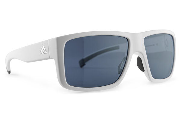 Adidas - Matic White Matte Sunglasses, Grey Lenses