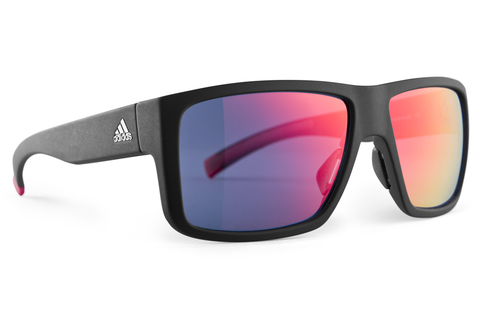 Adidas - Matic Black Matte / Red Sunglasses, Red Mirror Lenses
