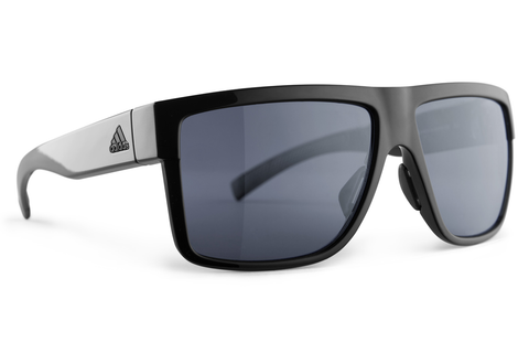 Adidas - 3Matic Black Shiny Sunglasses, Gray Polarized Lenses