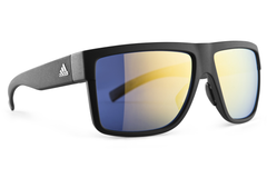Adidas - 3Matic Black Matte Gold Sunglasses, Gold Mirror Lenses