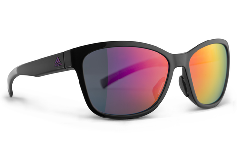 Adidas - Excalate Black Shiny / Purple  Sunglasses, Purple Mirror Lenses